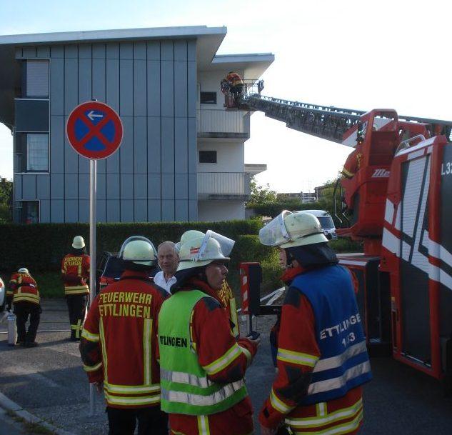 Einsatzübung  – Brand im Wohnheim – Löschzug Ettlingen Tal