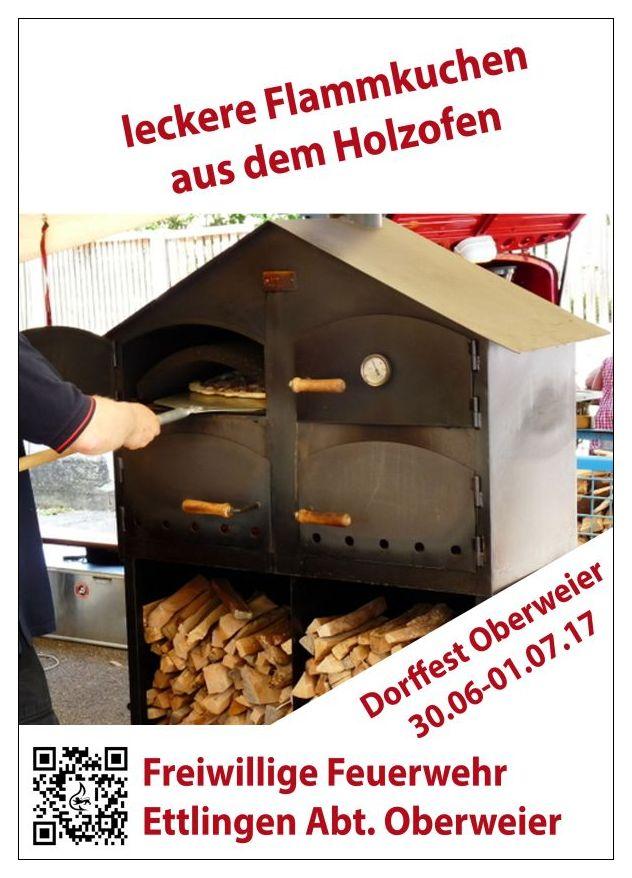 Flammkuchen auf dem Dorffest Oberweier 30.06.-01.07.2017