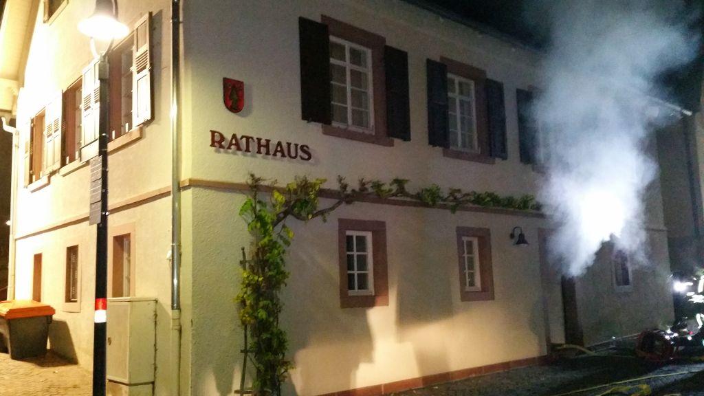 """""""Brand im Rathaus in Oberweier"""""""