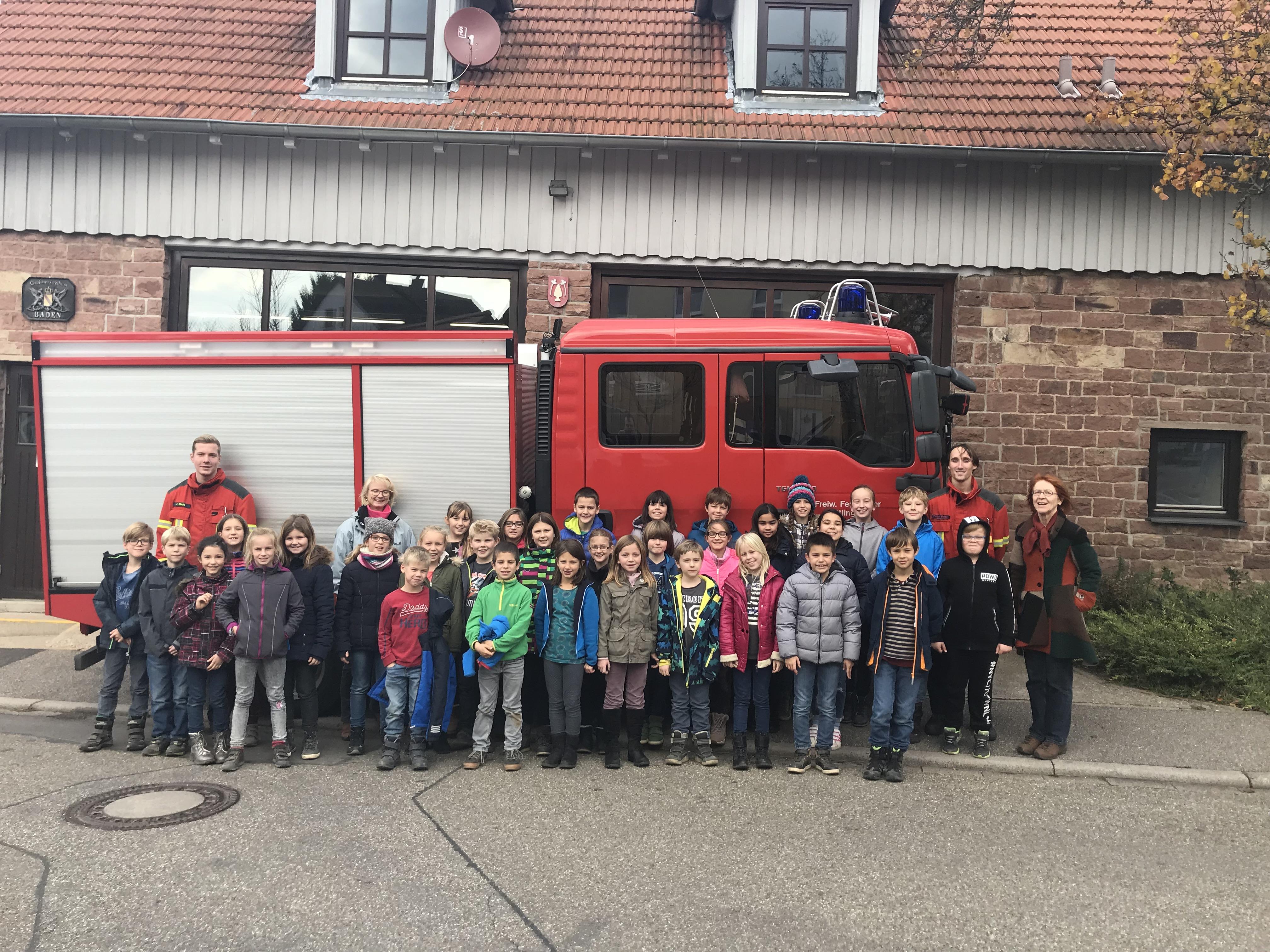 Grundschule Oberweier zu Besuch bei Ihrer Feuerwehr
