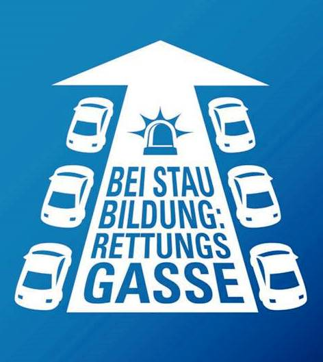 "Kampagne ""Rettungsgasse – rettet Leben"""