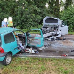 Schwerer Verkehrsunfall, Pkw-Fahrer tödlich verletzt